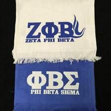 Zeta Phi Beta WHITE Hand Towel