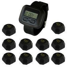SINGCALL Wireless Waiter Servicing System,Servicing Customer,10 Buttons, 1 Watch