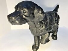 Cast Iron Black Dog Door Stop - Hunting Pointer Dog