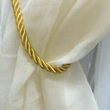 "2pcs Thick Plain Rope Curtains Tie Backs Tiebacks Decorative Holdback 27"" UK Gold"