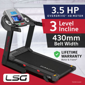 Lifespan LSG Series 430mm 3.5HP Belt Electric Treadmill Quiet EverDrive® Motor