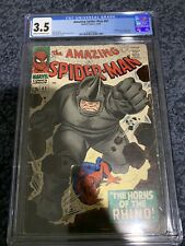 Amazing Spider-man 41 CGC 3.5 First Appearance Of The Rhino Marvel