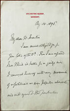 More details for arlington manor, newbury letter to w. machin from sir francis jeune august 1895