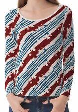 Hüftlange Stern-Langarm Damen-T-Shirts