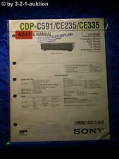 Sony service manual CDP c591/ce235/ce335 CD player (#4251)