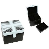 Harvey Makin Union Jack  Cufflinks / Watch Jewellery Box NEW
