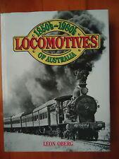 LOCOMOTIVES OF AUSTRALIA LEON OBERG * SIGNED HC DJ