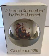 Vtg Schmid Christmas Tree Ornament Berta Hummel A Time To Remember 1981 8th LE