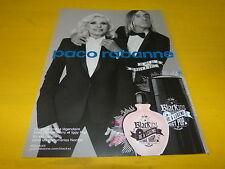 IGGY POP & DEBBIE HARRY - Parfum - Publicité de magazine / Advert !!