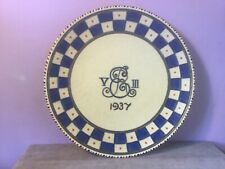CROWN DUCAL Charlotte RHEAD CORONATION WARE Tubelined PLAQUE Edward VIII Cypher
