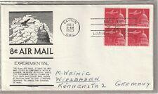 """Ersttagsbrief FDC USA """"8 Cent Air Mail Stamp - Experimental"""" 1963 Marken Dayton"""