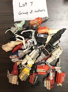 model car junkyard/ diorama/ spare parts…bag of misc. motors…..lot 7