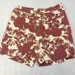 Patagonia Swim Trunks Men's 38 Rustic Spell Out Shorts Floral Tropical