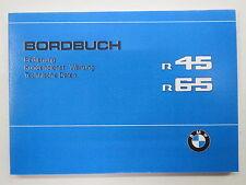 BMW r45 r65 bordo libro manuale manuale di istruzioni