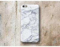 mármol carcasa funda para Huawei P20 P10 P9 P8 Mate 20 10 9 Pro Lite Plus blanco