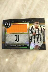 2020-21 Topps Museum UEFA Champions League Jumbo Patch Relic - Cristiano Ronaldo