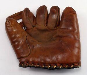Vintage Dubow Chicago 347 Augie Galan Leather Baseball Glove Mit