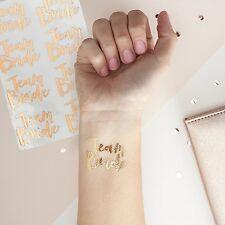 8 Team Sposa Tatuaggi Temporanei Oro Hen Night Party Accessori & Favori