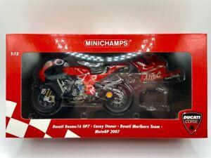 1:12 DUCATI DESMOSEDICI GP7 C. STONER MARLBORO TEAM MOTO GP 2007  - MINICHAMPS