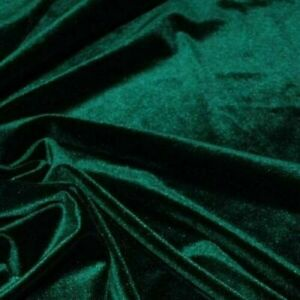 Dark Green Decor Velvet Fabric Soft Strong Velour Upholstery Material 160cm wide