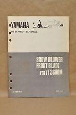 Vtg 1989 Yamaha YT3600 M Snow Blower Blade Plow Instruction Assembly Manual