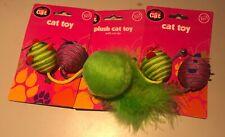 Cute Pets Cat Supplies Sisal Ball Kitten Play Feather Teaser Toy Random Toys mor