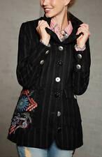 AMERICANA 34gr negro a Rayas Multicolor bordado botones chaqueta mujer NUEVO