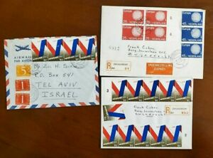 3 HOLLAND COVERS 1970 , AIR MAIL , ROLETED