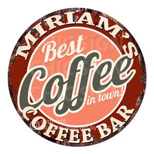CBCB0285 MIRIAM'S COFFEE BAR Sign Mother's day Birthday Christmas Gift Ideas