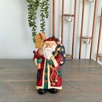 Christmas Santa Claus Figurine with Bird Birdhouse