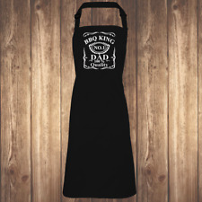 The BBQ King Apron- Funny Joke Drinking Summer Fathers Day Gift Present Grandad