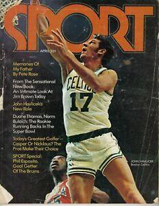 1971 Sport Magazine basketball John Havlicek, Boston Celtics, Phil Esposito POOR
