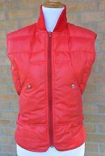 Vintage 70s 80s OBERMEYER Down Filled RED Puffer VEST Warm Winter SKI Womens S ?