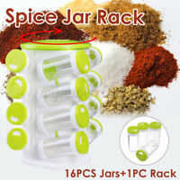 360° Rotating Revolving 16 Jar Spice Rack Storage Glass Jars Kitchen Cabinet A