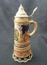 Vintage Gerz Lidded Musical Stein Swiss Movement Superstar Ceramic Germany