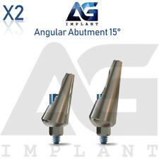 2 Angular Abutment 15° Aesthetic Titanium For Dental Implant Internal Hex