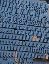 Letterpress Wood Printing Blocks 352pcs 142 Tall Wooden Type Woodtype