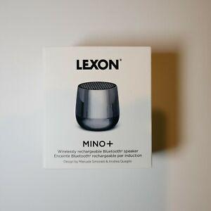 Lexon MINO + Portable Bluetooth Speaker - 3W - QI Wireless Metallic Grey New