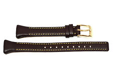 NIKE IMARA KEEVA BROWN LEATHER REPLACEMENT WATCH BAND