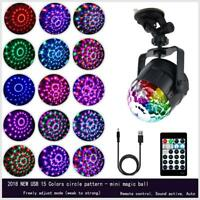 15 Colors LED Magic Effect DJ Disco Ball Sound Activated RGBP Stage Party Light