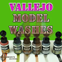Vallejo Model Washes 35ml Bottles Different Weathering Effects Free Ship $35+
