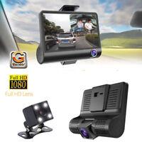 telecamera dvr per auto camper full hd 1080p 3 telecamere interna esterna LCD 4'