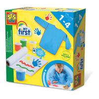 SES CREATIVE Children's My First Washable FingerPaint Set, 4 Paint Pots, Unisex