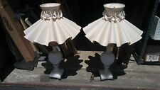 2 BEAUTIFUL ALABASTER LAMPS WITH SHADES