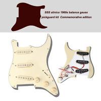 Classic Prewired Loaded Pickguard Alnico V Pickups for Fender Strat Guitar