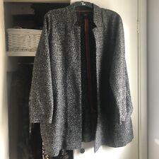 Next Plus Size Smart Grey Marl Cocoon Open Coat Coatigan Jacket Plus Size 22