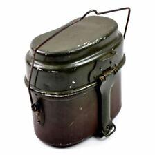 Original Polish Army mess kit. Aluminium military bowler pot