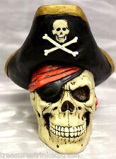 Skulls & Skeletons Pirate Captain Skull Money Bank - New 68265