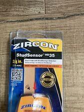 Zircon StudSensor HD35 Stud Finder with Wire Warning Detection, open box, new