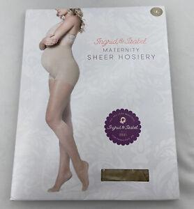 Ingrid & Isabel Maternity Sheer Hosiery Size Large NEW Nude Color 1514 Pregnancy